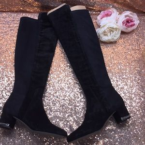 Michael Kors Black Over The Knee Boots 8M